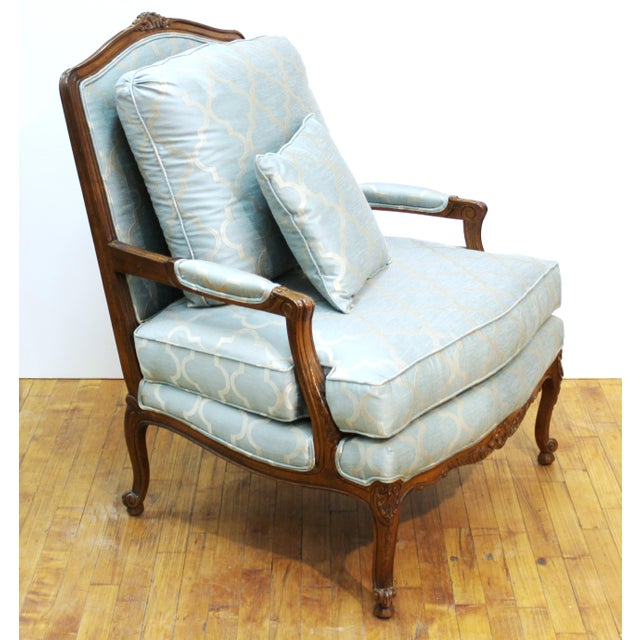 French Louis XV Provincial Style Bergere Chairs For Sale - Image 4 of 11
