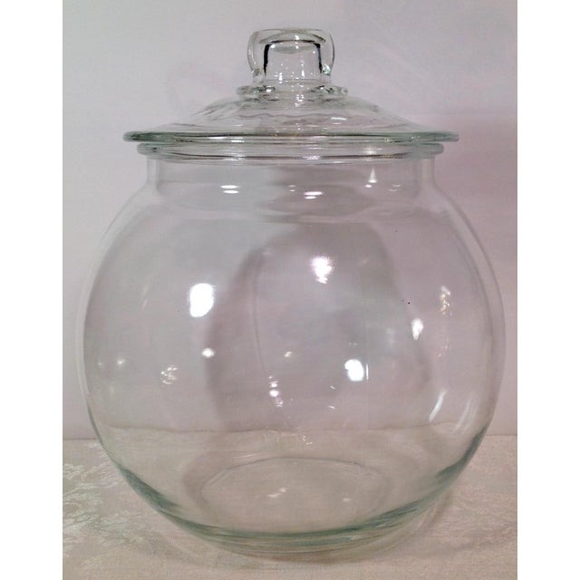 Mid-Century Modern Mid-Century Glass Lidded Jar For Sale - Image 3 of 9