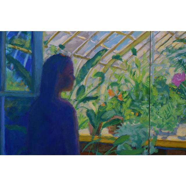 "Stephen Remick Contemporary Large Painting, ""The Greenhouse"", by Stephen Remick For Sale - Image 4 of 13"