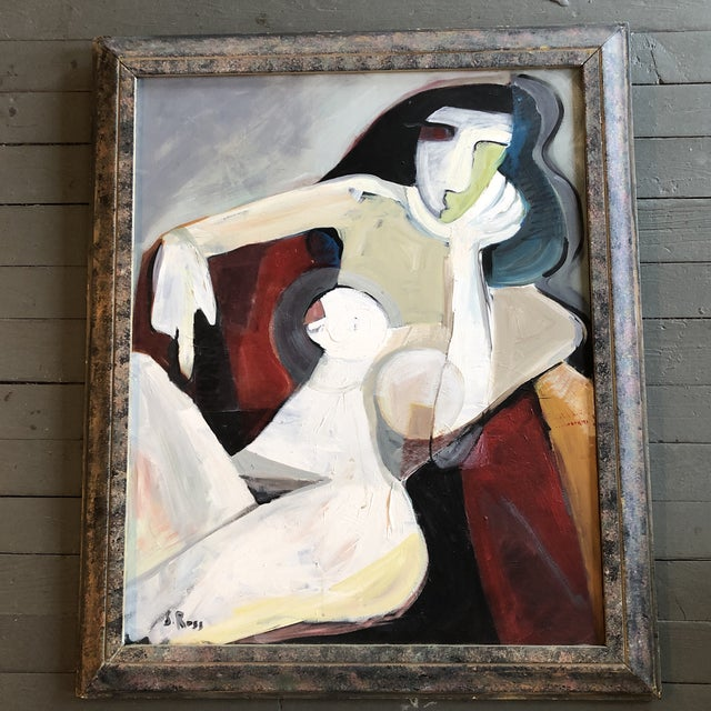 2010s Original Stewart Ross Female Nude Modernist Painting For Sale - Image 5 of 5