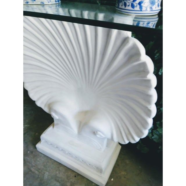Grosfeld House Monumental SeaShell Form Console Table Base Grosfeld House Style For Sale - Image 4 of 6