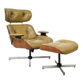 Mid Century Modern Plycraft Lounge Chair and Ottoman by Frank Doerner For Sale