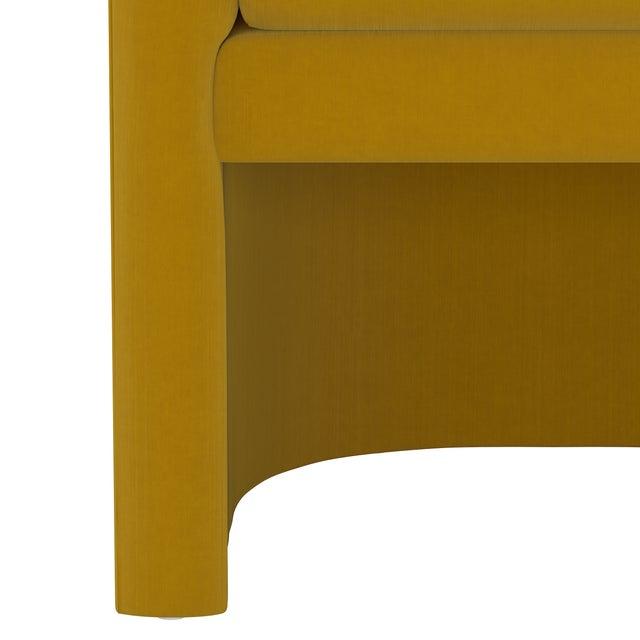 Not Yet Made - Made To Order Barrel Chair, Monaco Citronella For Sale - Image 5 of 8