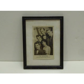 """Vintage """"The Skyliners"""" Framed Promotional Black & White Photograph Preview"""