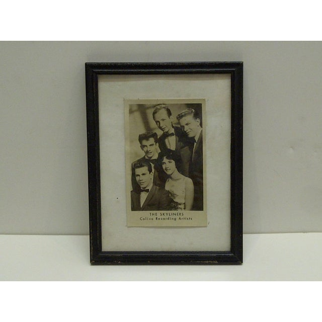 """This is a Vintage -- Promotional Black & White Photograph -- """"The Skyliners"""" -- Calico Recording Artists -- The Photograph..."""