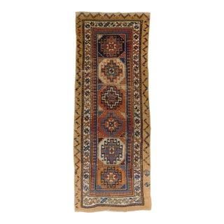 Antique Persian Camel Hair Sarab Runner For Sale
