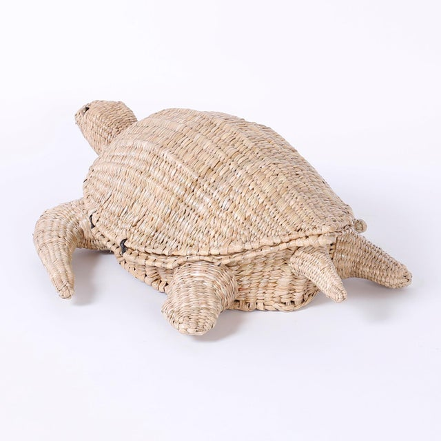Early 21st Century Mario Torres Wicker Turtle For Sale - Image 5 of 8