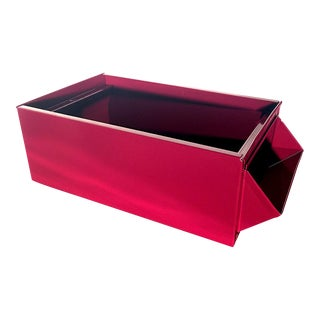 1940s Industrial Storage Bin, Refinished in Gloss Red