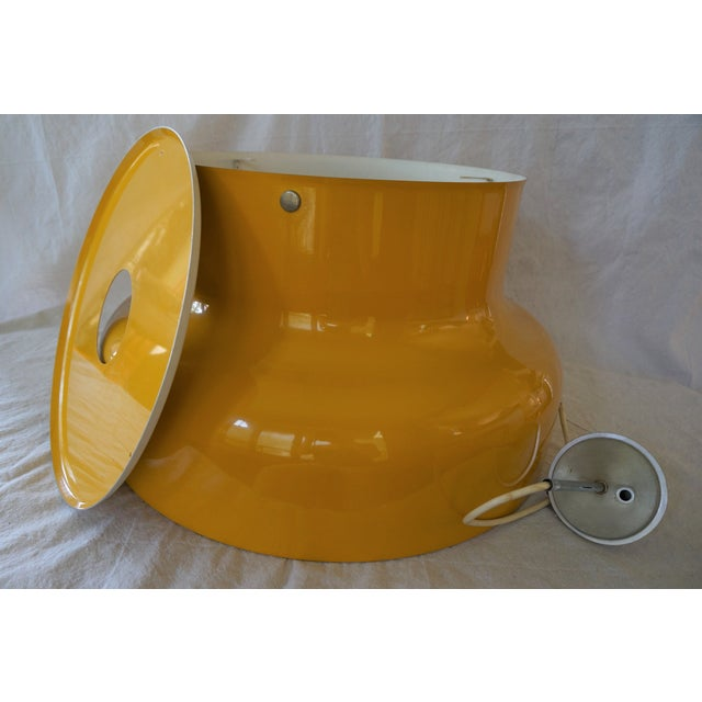 Yellow Vintage Large Bumling Pendant Light For Sale - Image 8 of 13