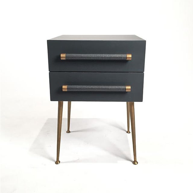 2-Drawer Nightstand with Wicker Pull - Image 2 of 5