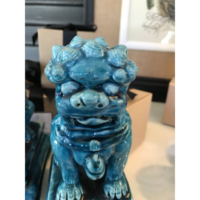 Vintage Turquoise Foo Dogs Figures - A Pair - Image 5 of 6