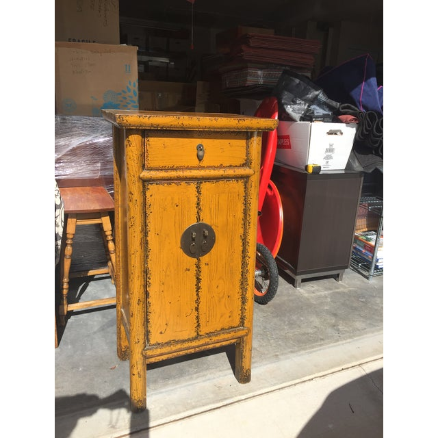 Chinese Golden Yellow Cabinet - Image 2 of 5
