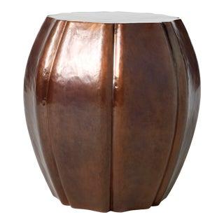 8 Petal Drumstool - Antique Copper For Sale
