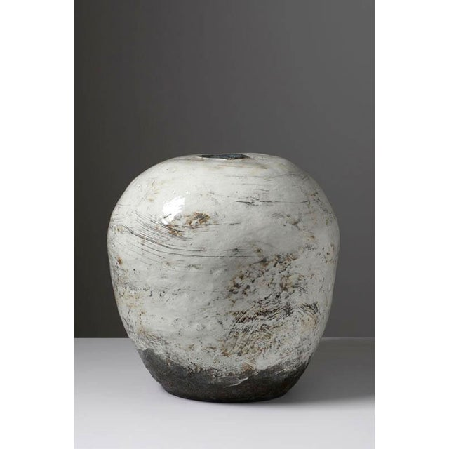 Puncheong Jar (Wing in the Mountain), 2012. Ceramic and ash glaze.