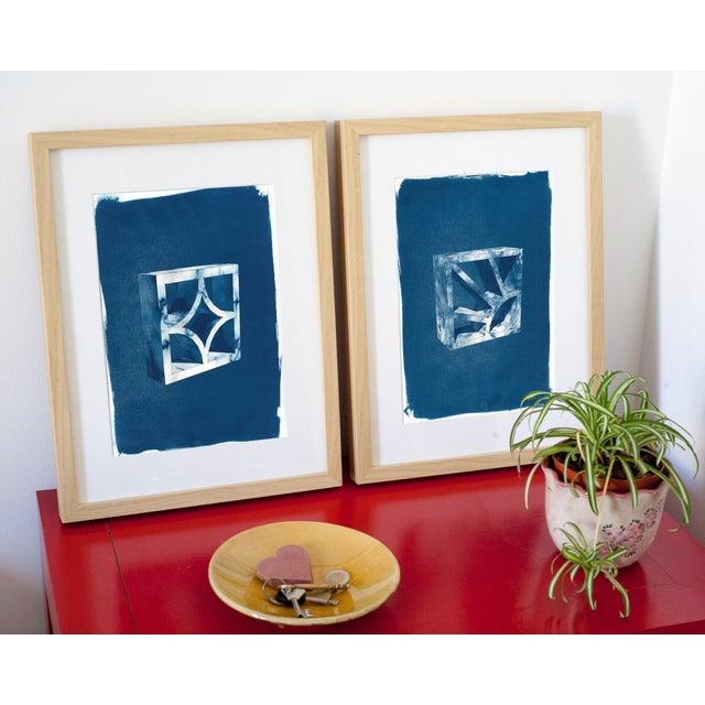 Cyanotype Print 3D Screen Block - Image 2 of 4