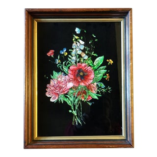 Victorian Tinsel Painting For Sale
