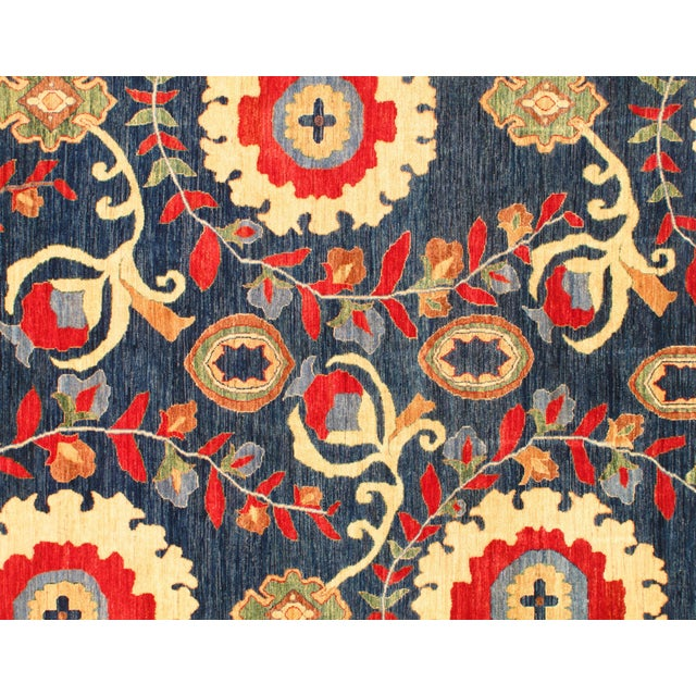 """Pasargad N Y Suzani Design Lamb's Wool Rug - 5'7"""" X 7'6"""" For Sale - Image 4 of 5"""