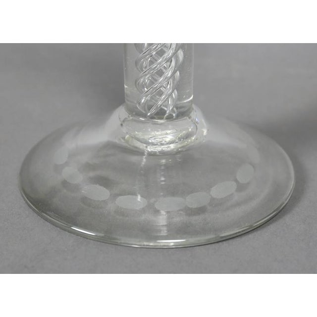 Pair of Victorian Etched Glass Candlesticks For Sale - Image 5 of 7