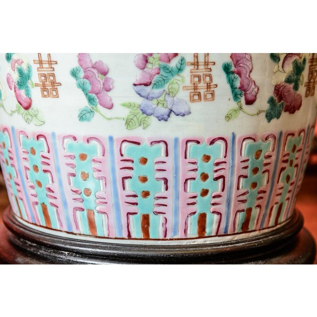 Asian Large Asian Porcelain Table Lamp For Sale - Image 3 of 9