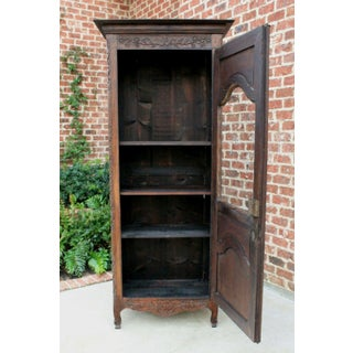 Antique French Oak Early 19th Century Louis XV Renaissance Revival Display Curio Cabinet Bookcase Preview