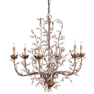 Currey and Company Crystal Bud Chandelier For Sale