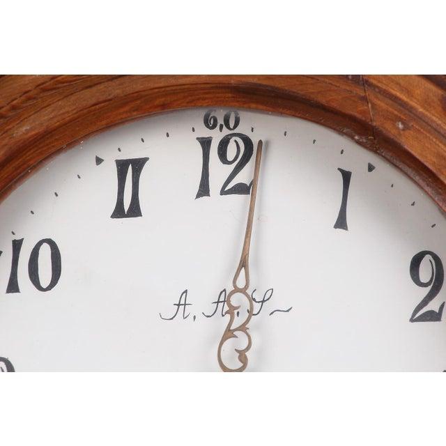Swedish Longcase Grandfather Clock Anno 1845 For Sale - Image 9 of 12
