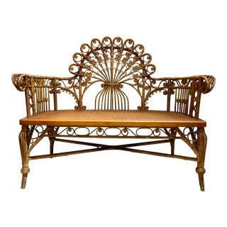 Wicker Settee by Heywood Brothers & Wakefield Company For Sale