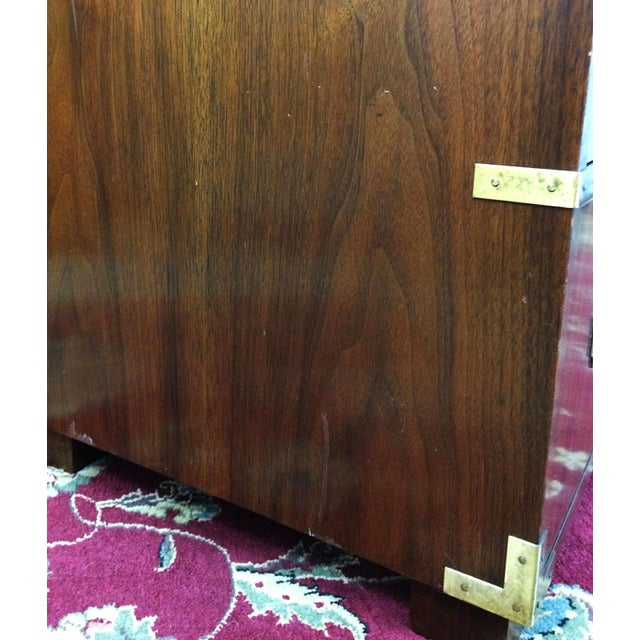 Baker Furniture Mid Century Campaign Style Dresser For Sale - Image 11 of 11