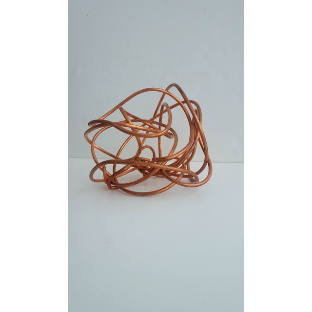 """Original Copper Coil """"Chaos"""" Twisted Knot Sculpture - Image 4 of 11"""
