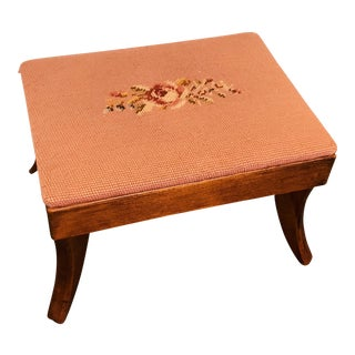 """Early 20th Century Victorian Style """"Gout"""" Footstool For Sale"""