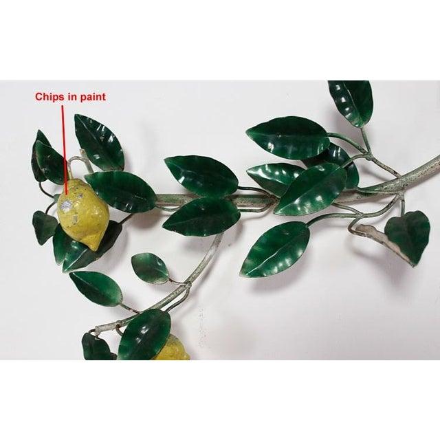 Vintage Italian Lemon Tree Tole Sculpture - Image 4 of 6