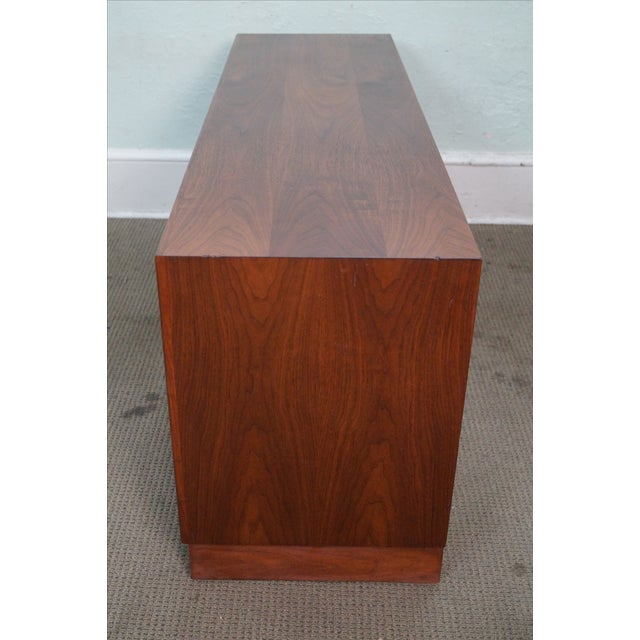Danish Modern Mid-Century Modern Walnut Cane Door Credenza withDrawers For Sale - Image 3 of 10