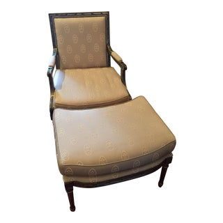 Neoclassical Style Chair & Ottoman