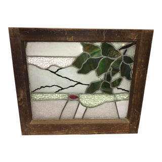 Vintage Upstate New York Stained Glass Window For Sale