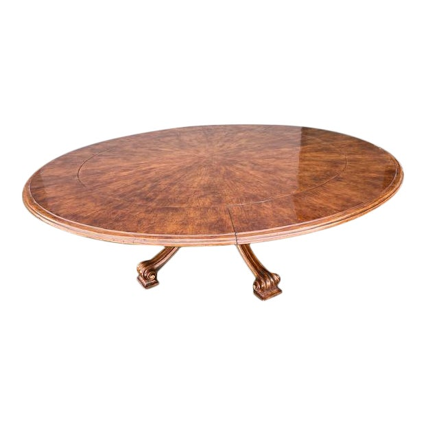 1970s Thierin Round Dining Table With Leaves For Sale