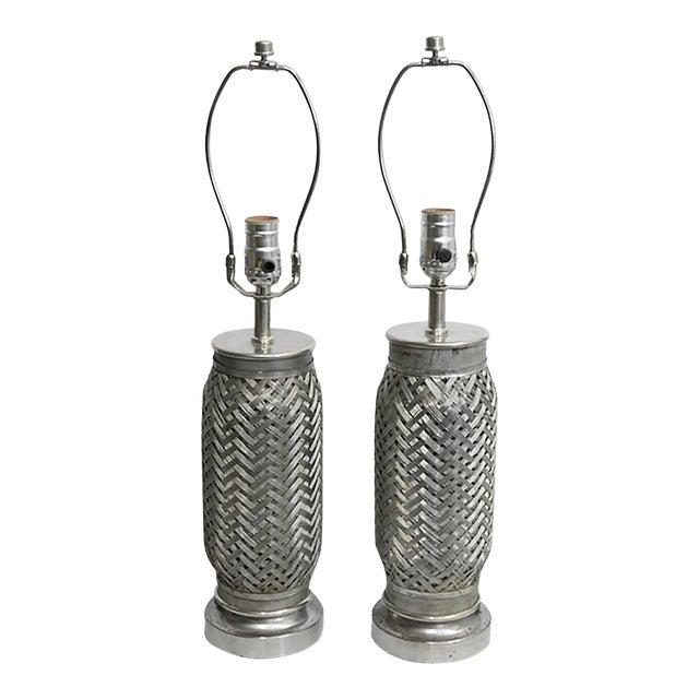 Rocket Component Lamps - Pair For Sale