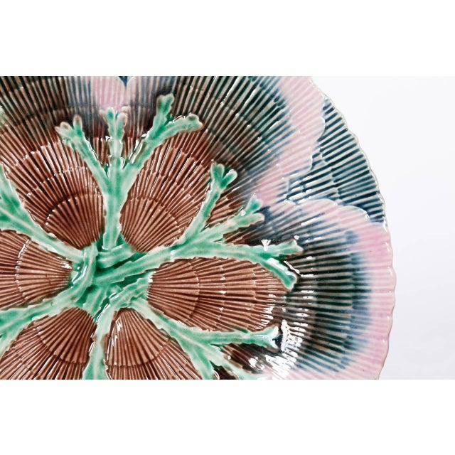 Etruscan Shell and Seaweed Majolica Set, Late 19th Century For Sale - Image 9 of 11