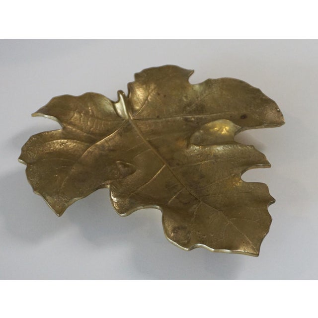 1948 Vintage Va Metalcrafters 4-13 Brass Fig Leaf Virginia Metalcrafters, originally founded 1890, the brass business...