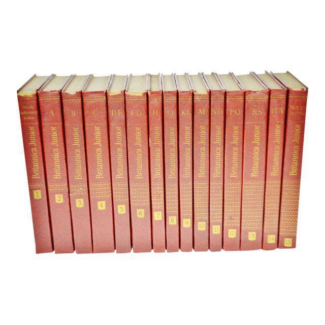 1960 Encyclopedia Britannica Junior Leather Bound Books - Set of 15 For Sale - Image 11 of 11