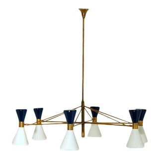 1960s Mid-Century Italian Diabolo Chandelier For Sale