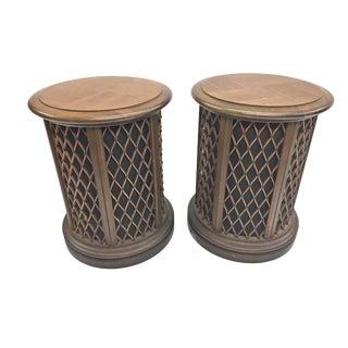 Mid Century Modern Wood Floor Speakers by Pioneer - a Pair