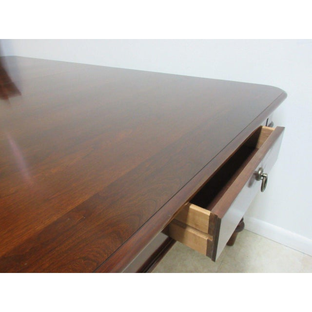 Brown Pennsylvania House Cortland Manor Cherry Banquet Dining Conference Table For Sale - Image 8 of 11