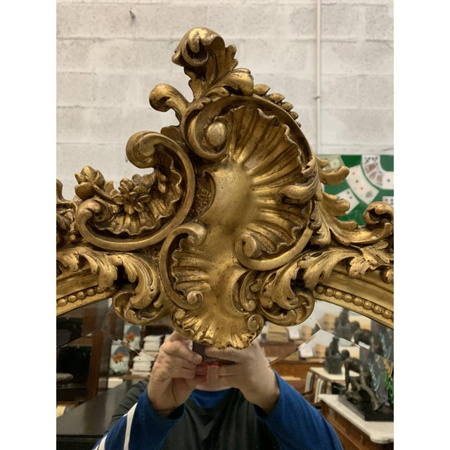 French French Louis XV Giltwood Mirrors With Facetted Glass C.1900s For Sale - Image 3 of 13