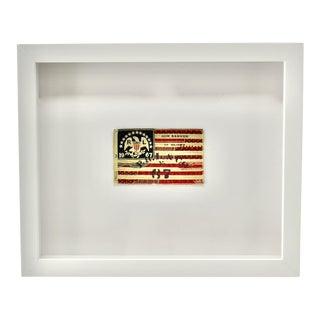 Vintage Framed Ralph Lauren Flag For Sale