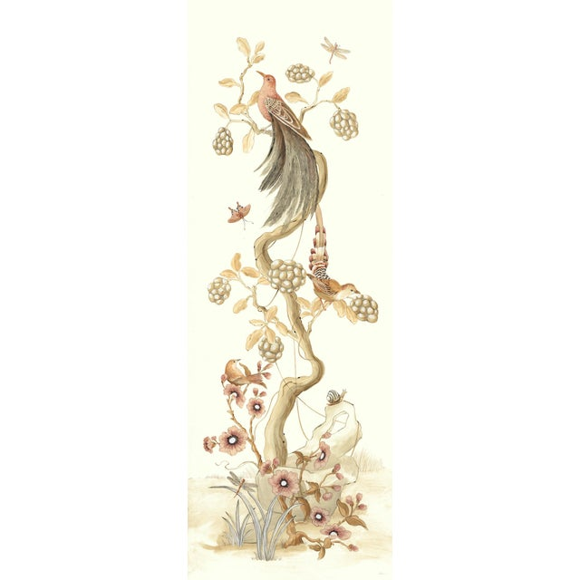 """Chinoiserie Style Bird Painting, """"Without Feather Ado"""" For Sale"""
