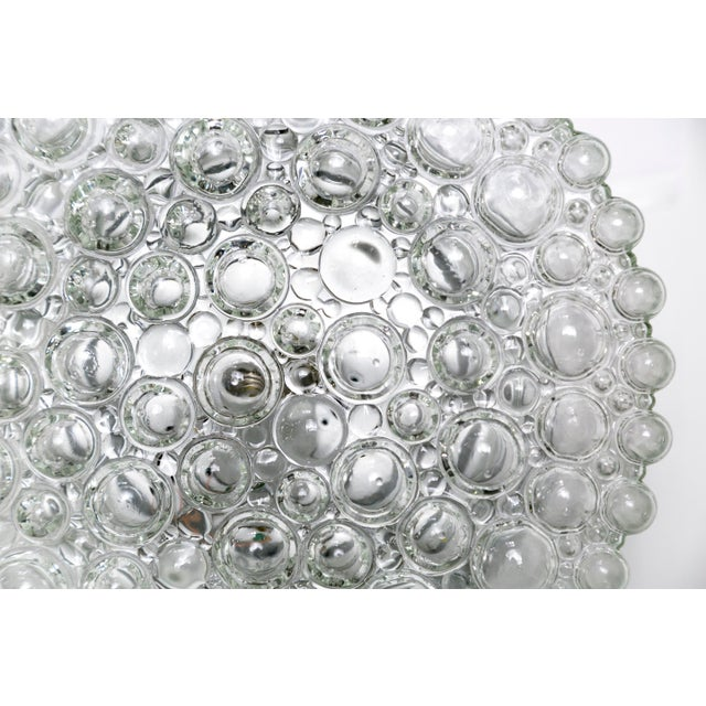 Mid-Century Modern Circular Crystal Clear Bubbles Sconce by Helena Tynell For Sale - Image 3 of 6