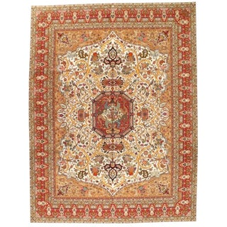 Pasargad Persian Fine Tabriz Hand-Knotted Rug - 10' X 13' For Sale