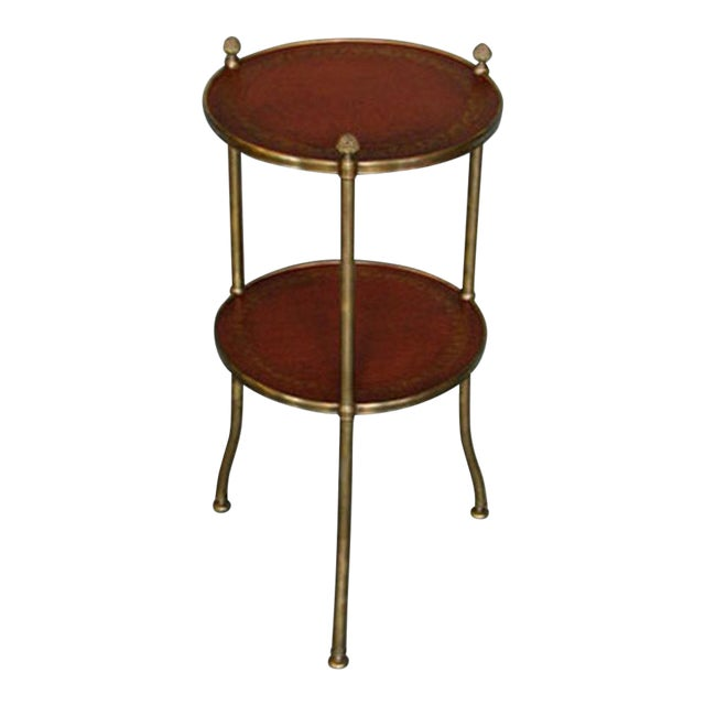 De Wolfe Muffin Table - Brass - Image 1 of 4