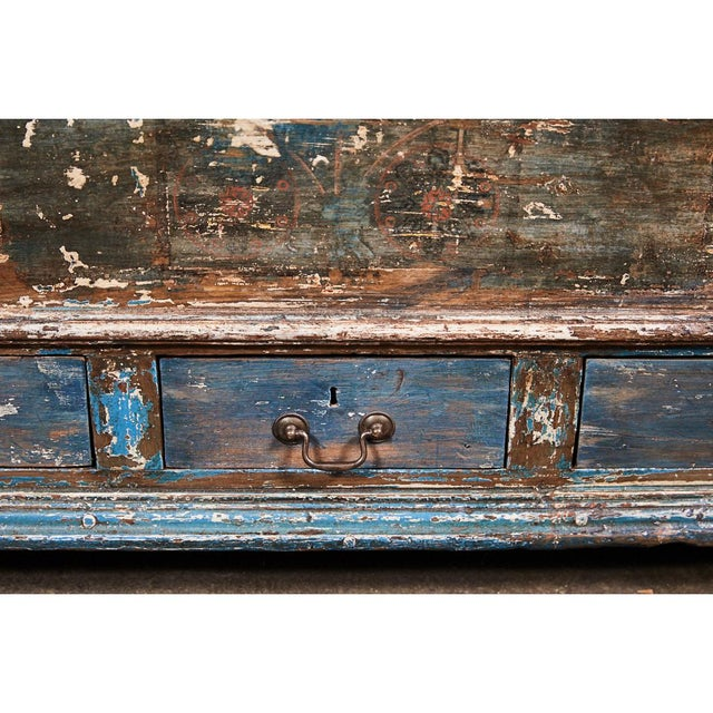 Gold Pennsylvania Blanket Box/ Dowry Chest For Sale - Image 8 of 9