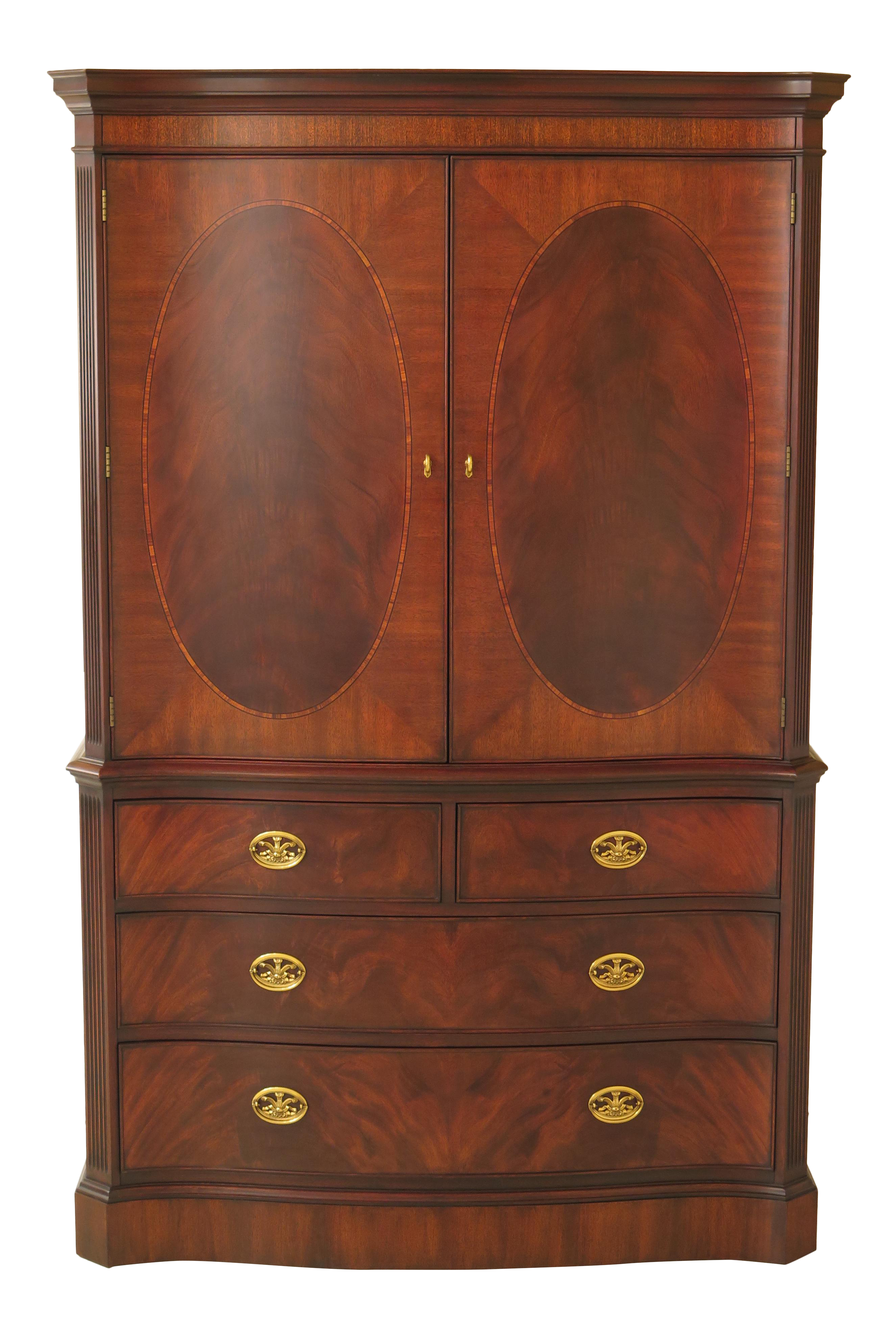 Henkel Harris Model #194 Mahogany Bedroom Armoire